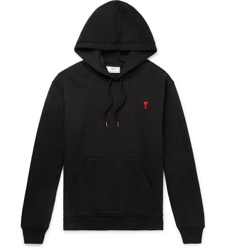 Ami Cotton-Jersey Hoodie