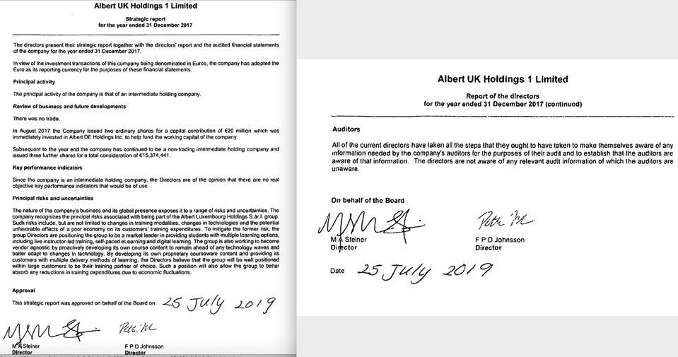 Albert UK Holdings, Rhone Group, WeWork, WeCo., Marsha Allison Steiner, Steven Langman