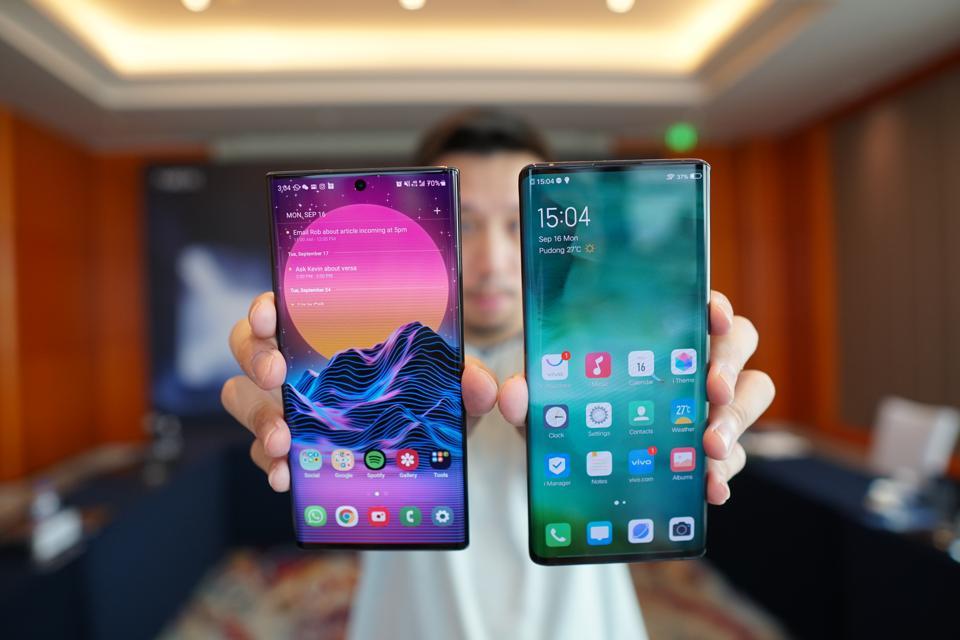 Vivo Nex 3 and Samsung Galaxy Note 10 Plus