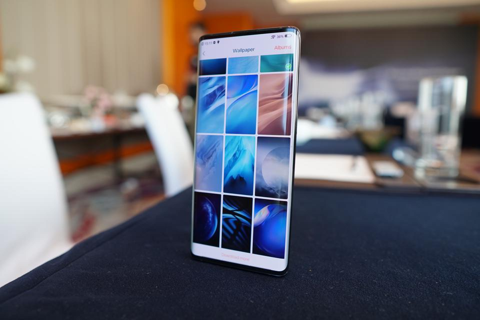 """The Vivo Nex 3 with its """"waterfall"""" screen."""