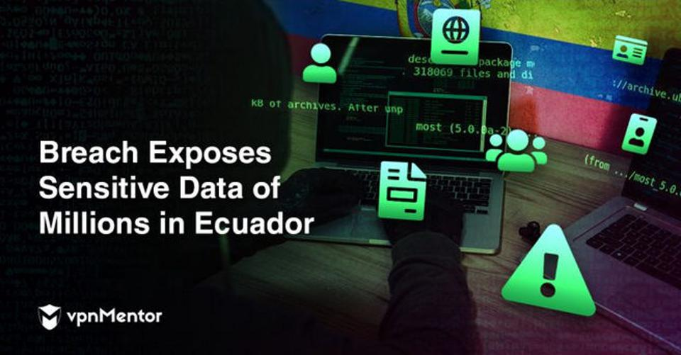 An image illustrating a report on breach of Ecuadorian data