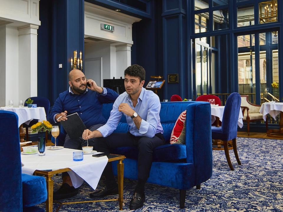 Studio Succes founders Michael Hakopian and Taron Mosesian, Amstel Hotel Amsterdam