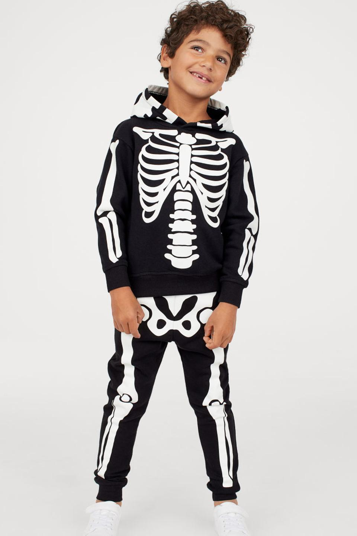 Spooky Halloween Boys Girls Kids Childrens Hooded Top Hoodie