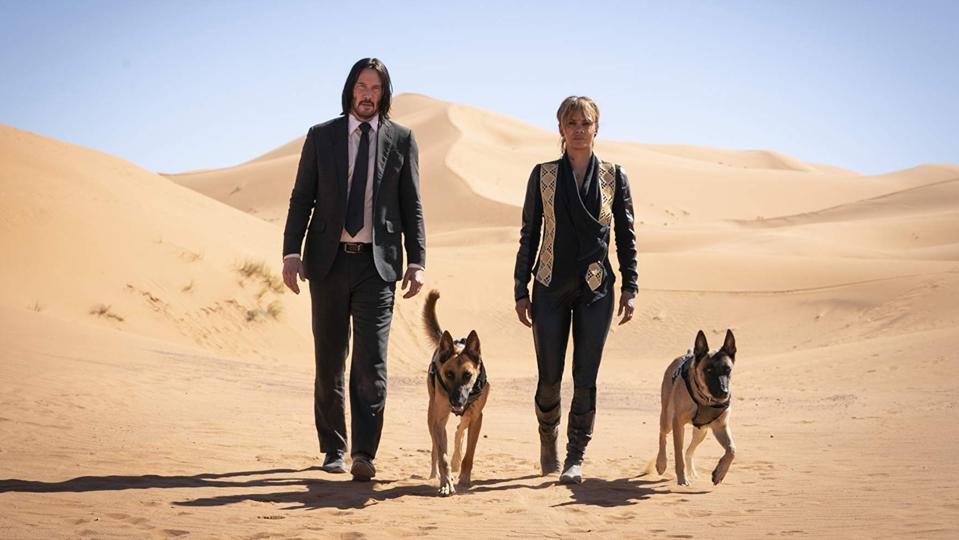 Keanu Reeves and Halle Berry in 'John Wick: Chapter 3'