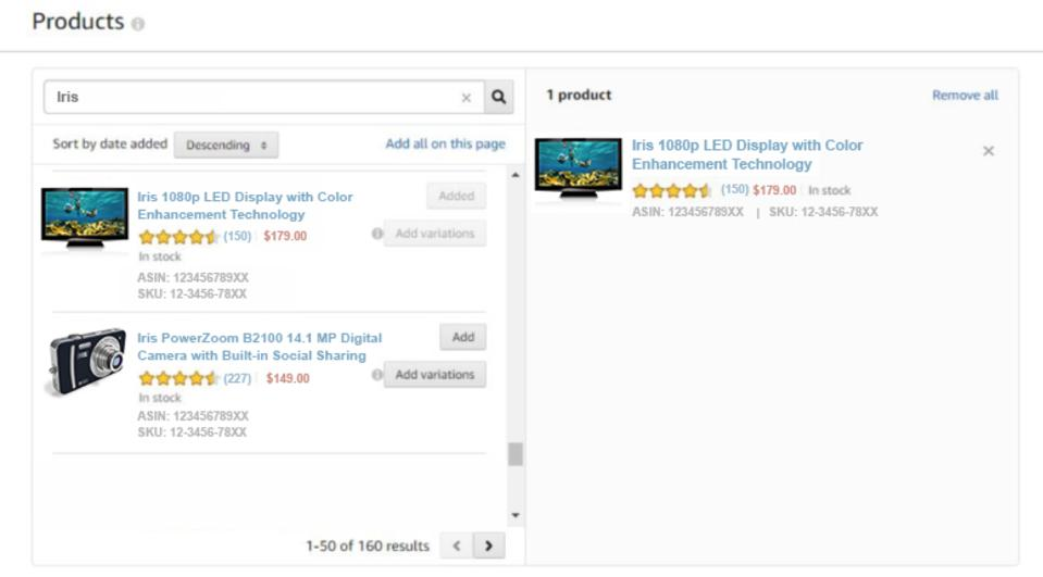Anuncios de display patrocinados por Amazon