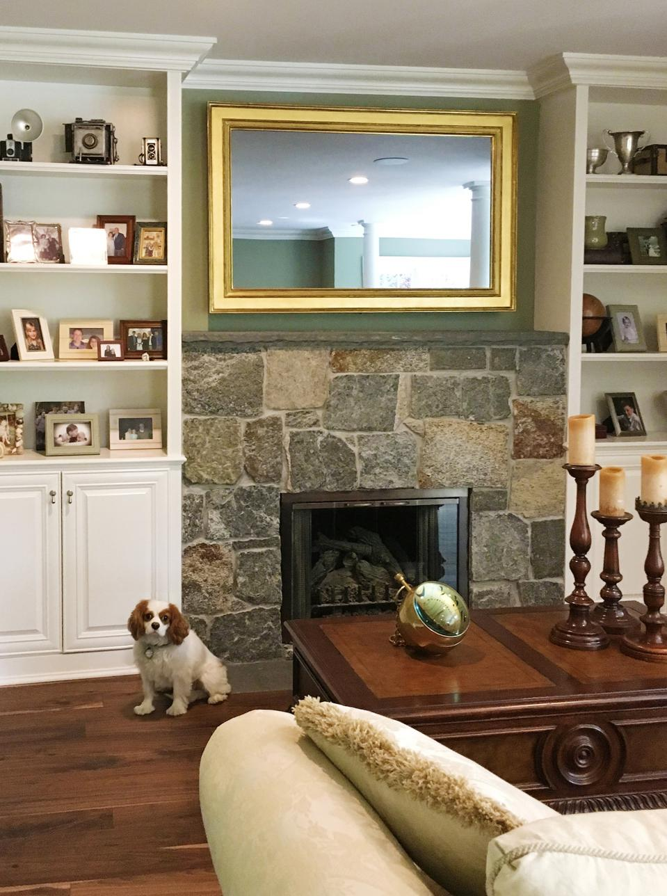 One of the most popular places for these units is over the fireplace.