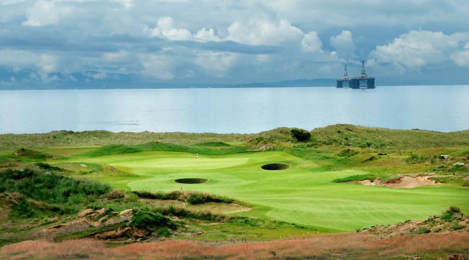 golf hole in Scotland