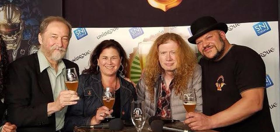 Megadeth Unibroue WOT Posed Pic