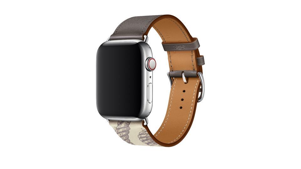Apple Watch Hermes Etain/Baton Swift Leather Single Tour