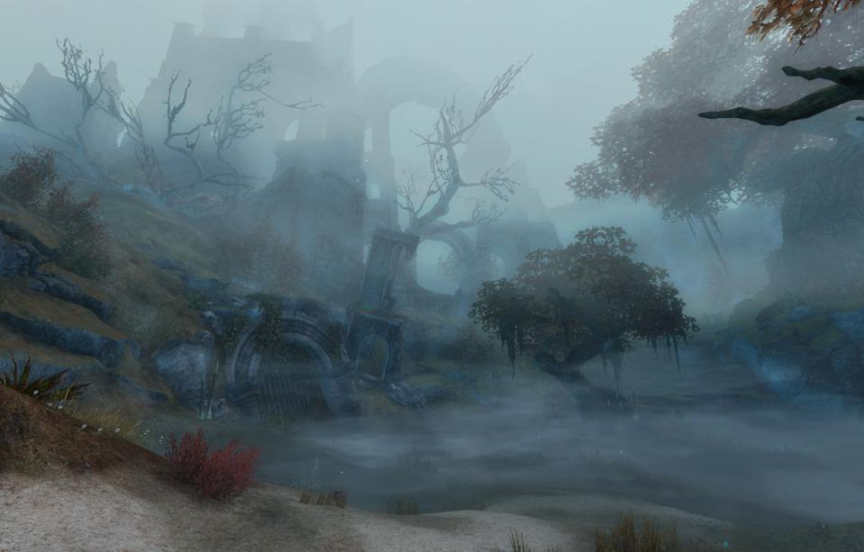One of the more mysterious locales in Grothmar Valley from Bound By Blood in Guild Wars 2.