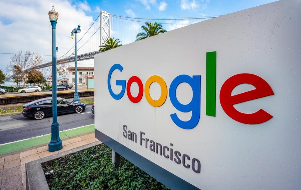Sign for Google offices in San Francisco