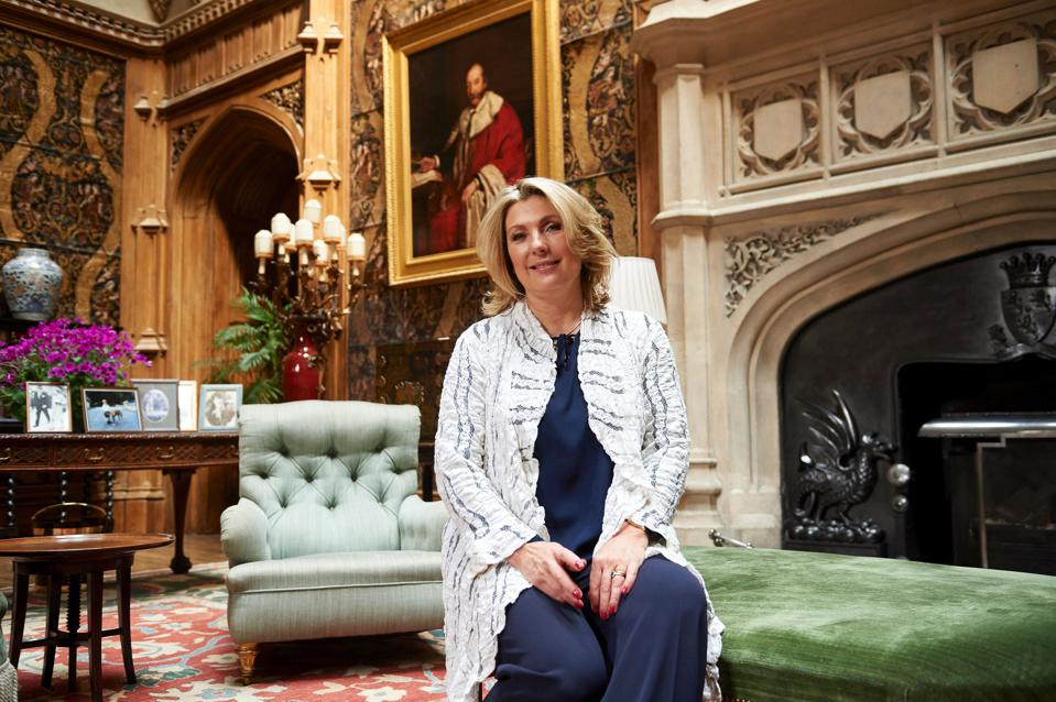 Lady Fiona Carnarvon of Highclere Castle, home to Downton Abbey