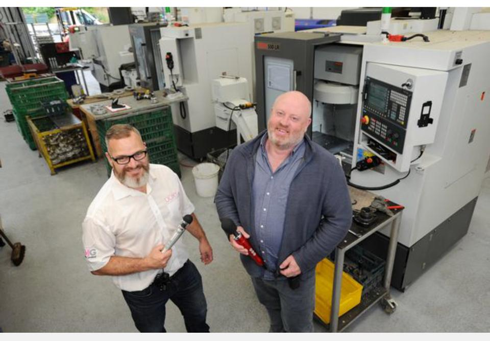 William Garland and Andrew Crichton founders of Doxy at their factory in Cornwall, UK