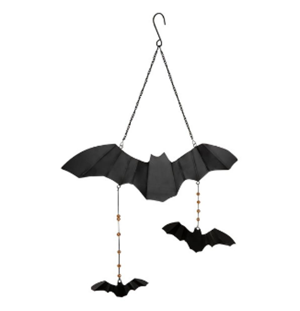 Black Hanging Bats Decor