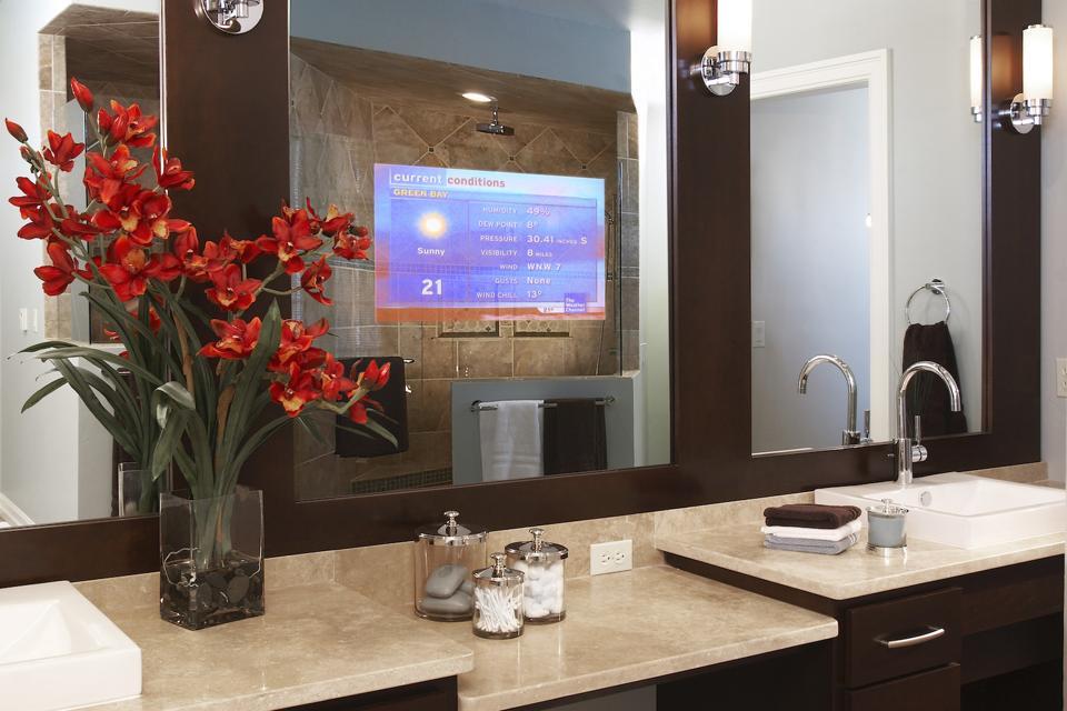 This Seura Vanishing Vanity TV Mirror is 19 Inch.