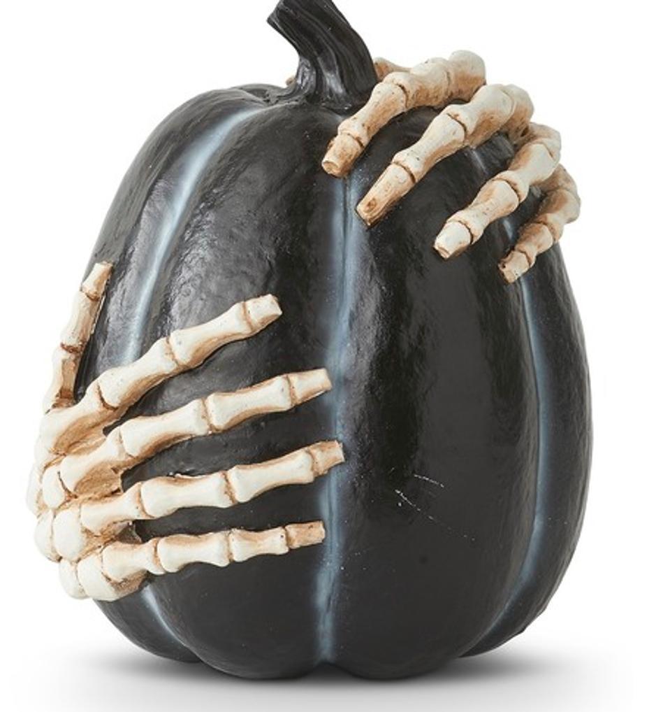 Pumpkin With Skeleton Hands