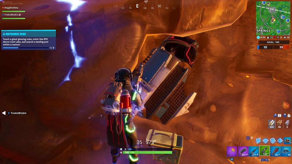 'Fortnite' Landing Pod Location: Where To Search A Landing Pod Within A Meteor (Meteoric Rise Challenge)
