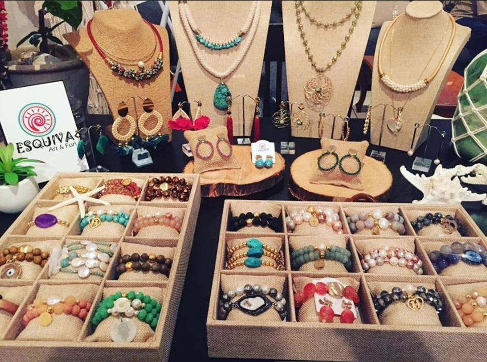 Jewelry from Esquiva Art and Fun, at Feria Verde