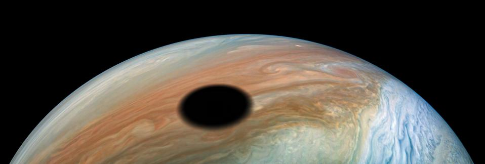 NASA Captures A Solar Eclipse On Jupiter Made By Its Volcanic Moon