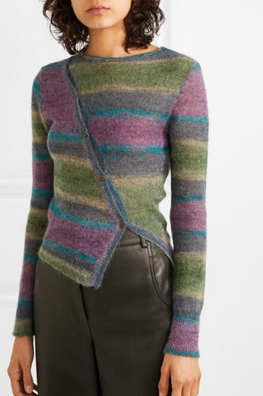 Jacquemus Button-detailed striped knitted sweater