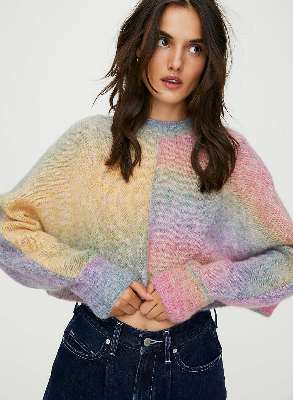 Wilfred Free Cosmic Sweater Cropped rainbow sweater