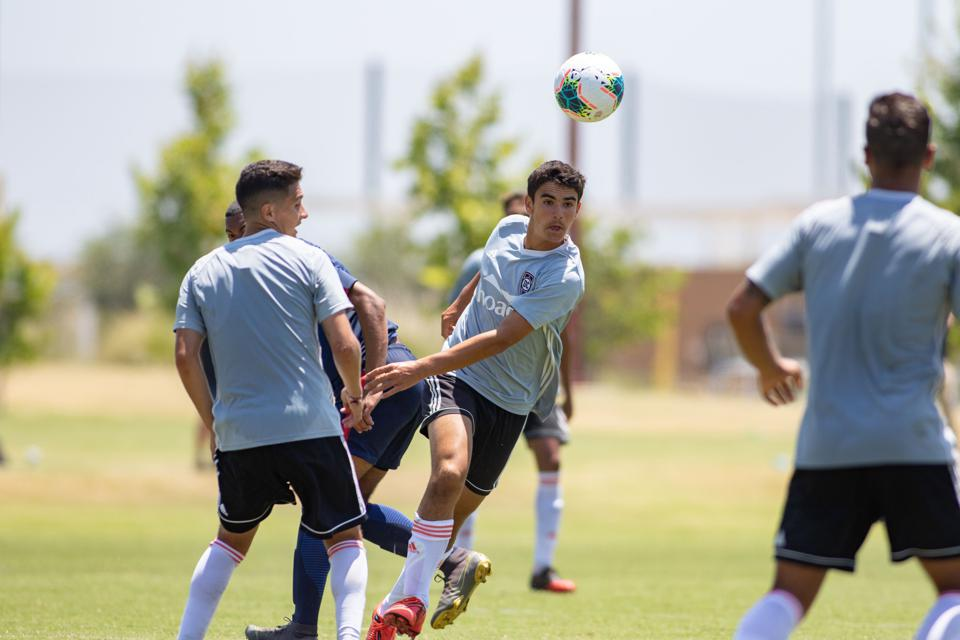 Image of Francis Jacobs training with Orange County SC.