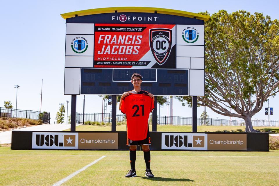 Francis Jacobs at Orange County SC's Championship Soccer Stadium in Irvine.
