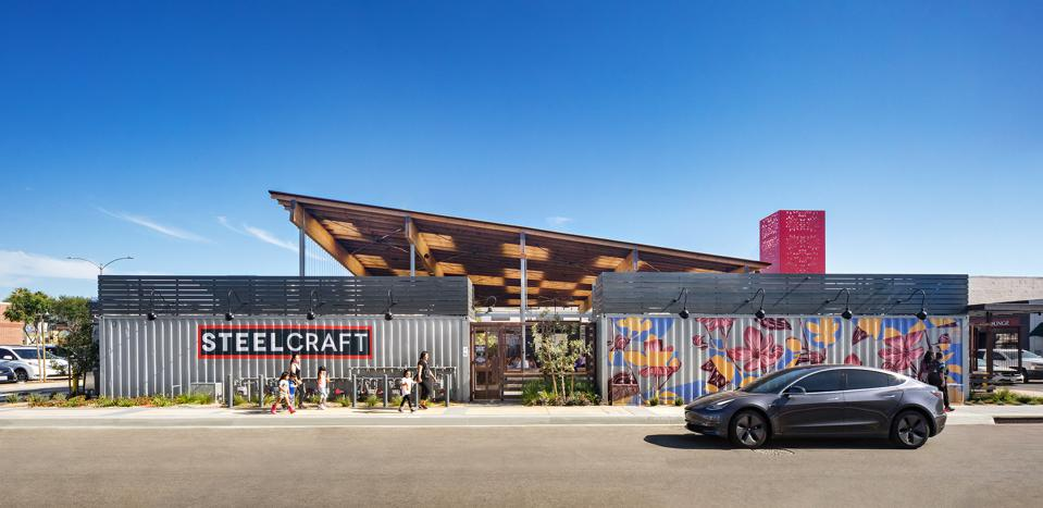SteelCraft Bellflower (16500 Bellflower Blvd.) is an anchor in the city's ongoing revitalization efforts.