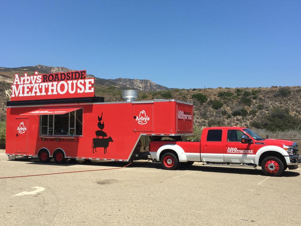 Arby's Roadside Meathouse food truck.