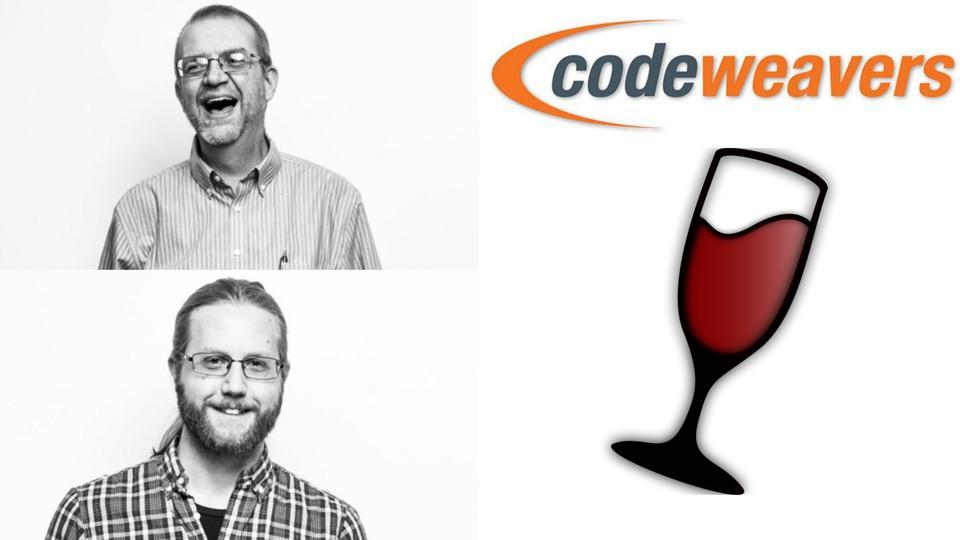 Codeweavers CEO Jeremy White and Wine developer Andrew Eikum