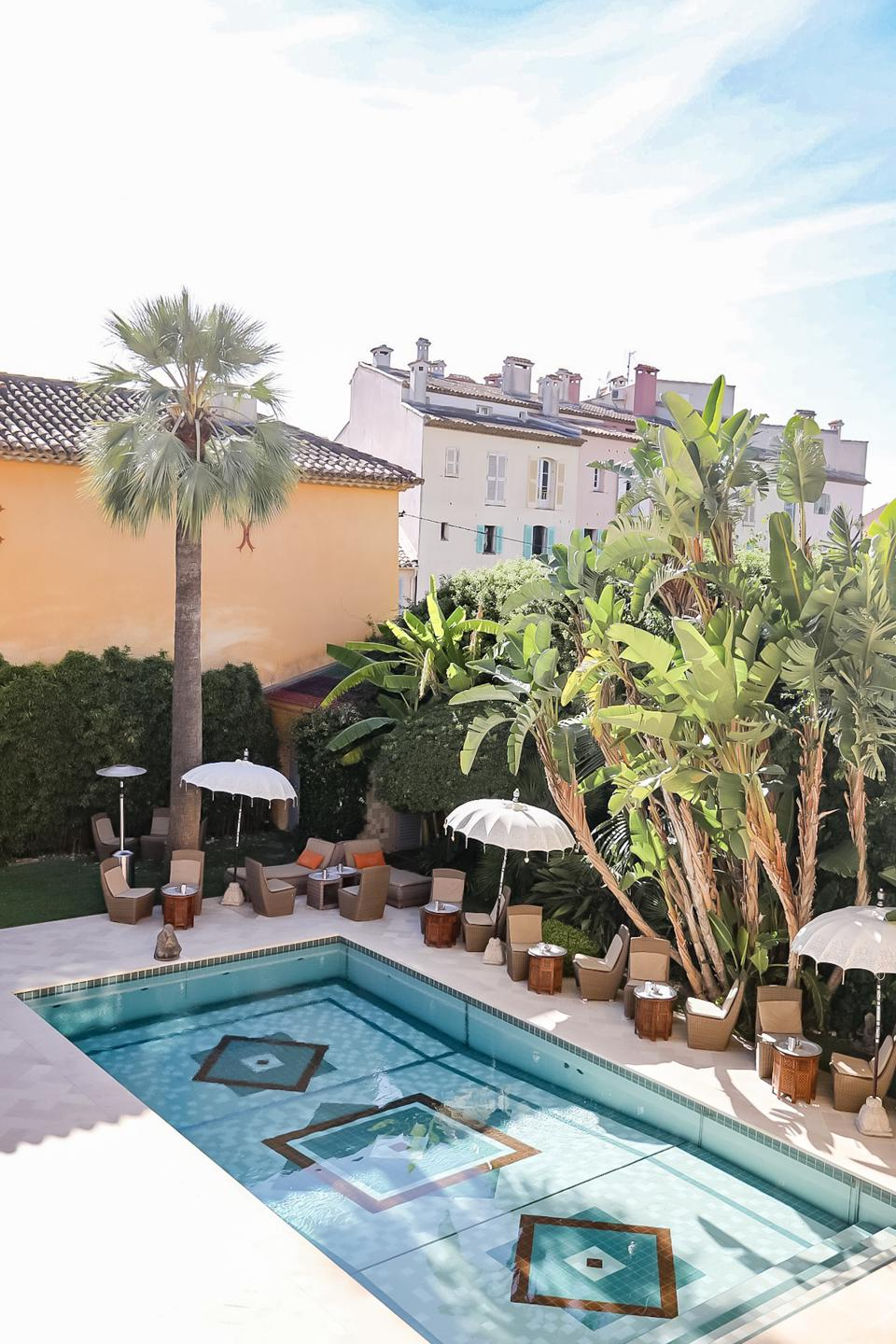 ST. TROPEZ - View of the pool at Pan Dei Palais