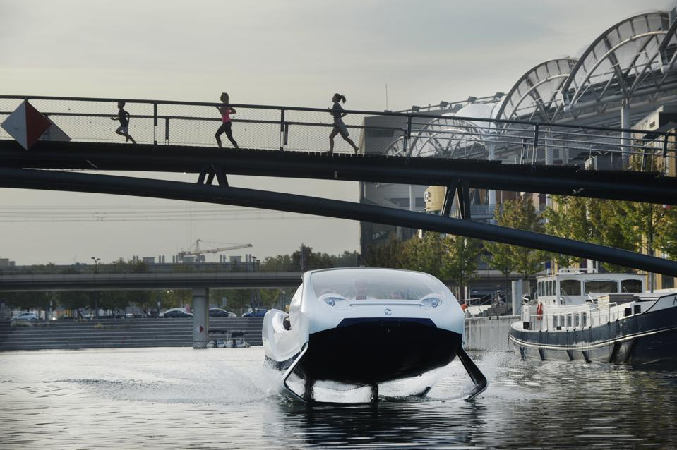 Paris Tests 'Flying' SeaBubble Taxis On The River Seine