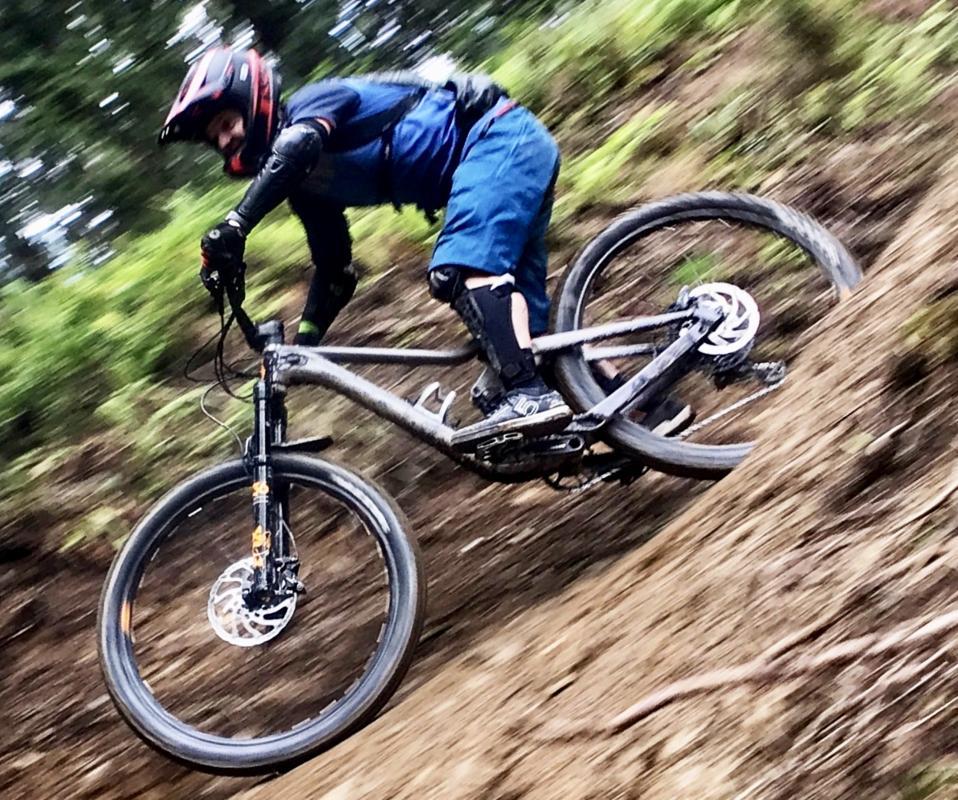 Downhill mountain biker.