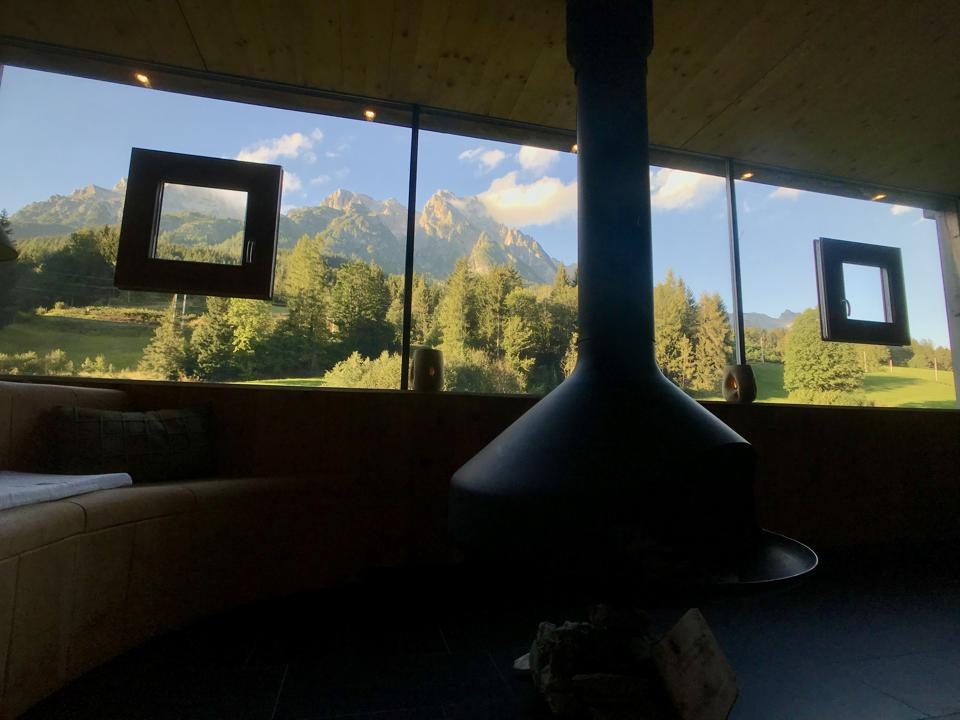 Sauna with a view.
