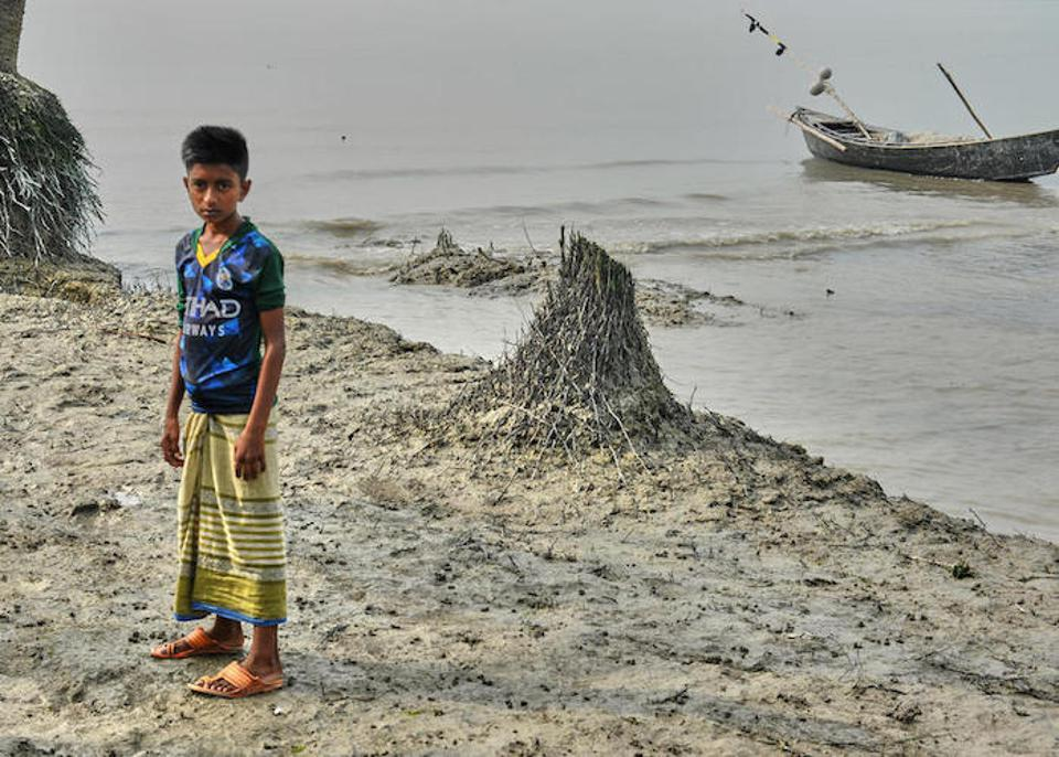 Maroof, 11, has vivid memories of the terrible flood that swept through his village, Nizampur, in Patuakhali District on the Bay of Bengal in 2017, displacing his family and killing his 8-year-old friend Iqbal.