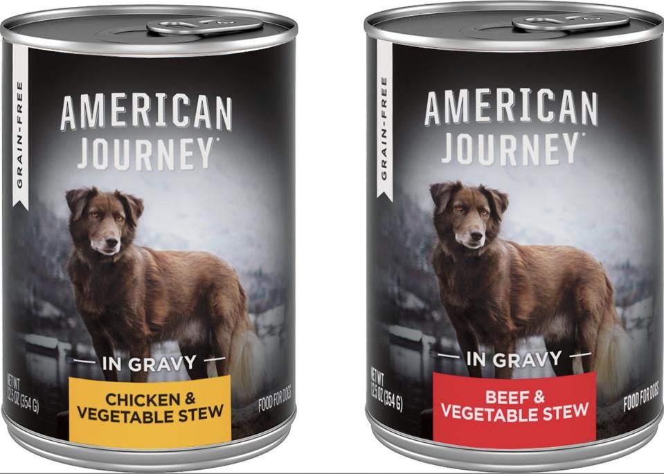 wet dog food cans