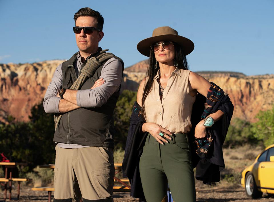 Ed Helms and Demi Moore