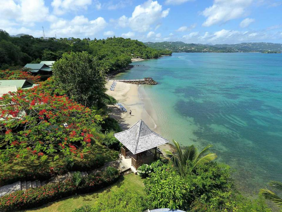 beach at calabash cove resort and spa st. lucia