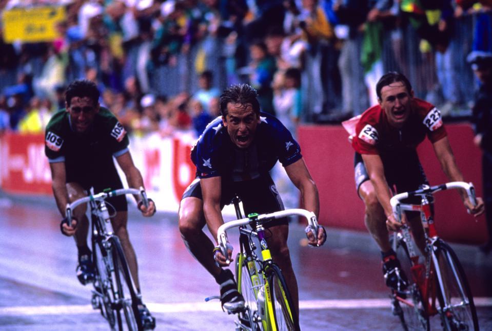 Greg LeMond winning.
