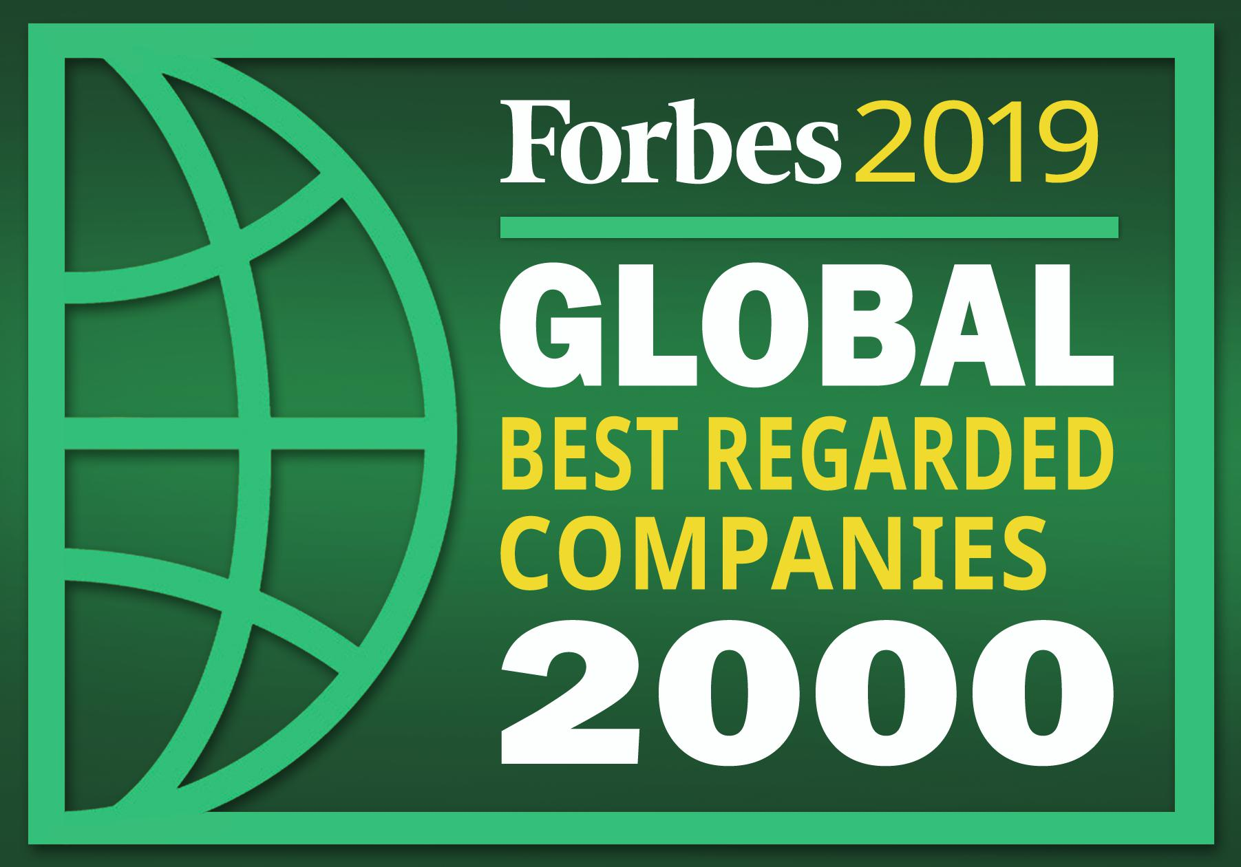 Global 2000: The World's Best Regarded Companies 2019