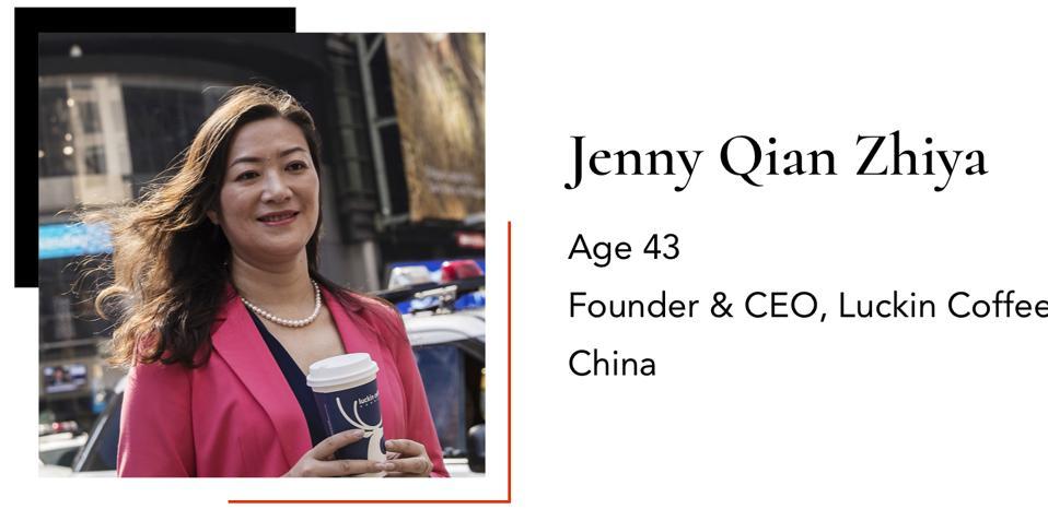 ZhiyaJenny QianFounder & CEOLuckin Coffee43China