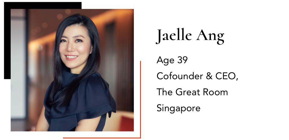 Ang Jaelle Cofounder & CEO The Great Room 39 Singapore