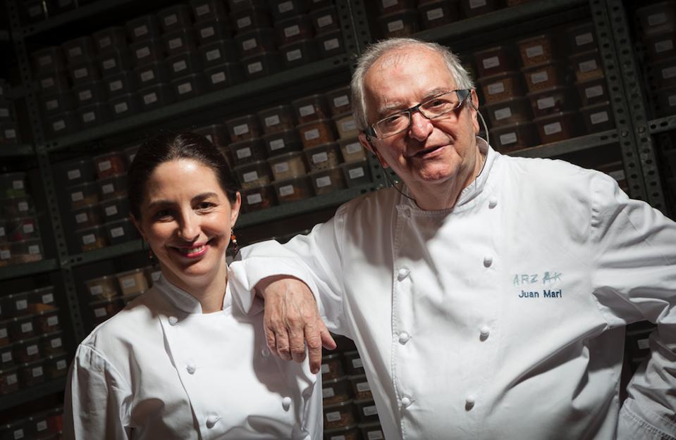 Juan Mari Arzak and his daughter Elena.