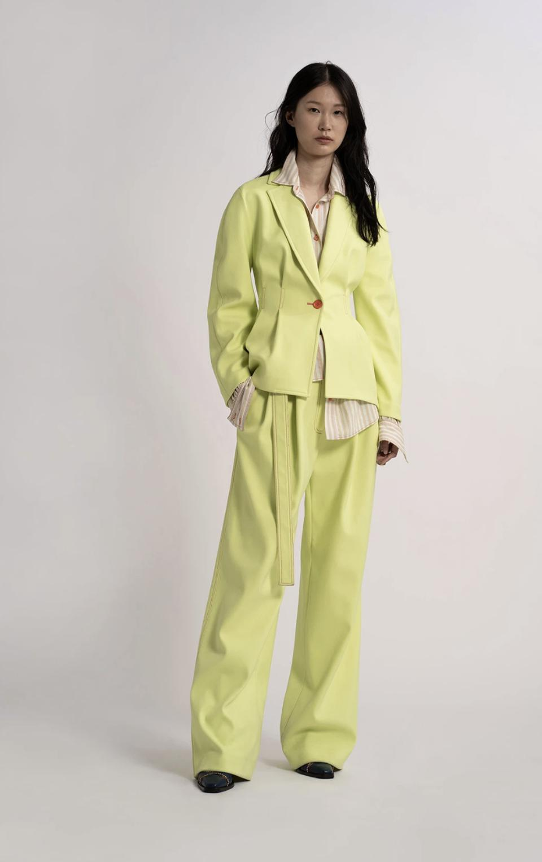 Sies Marjan Yellow Haru Twill Waisted Jacket