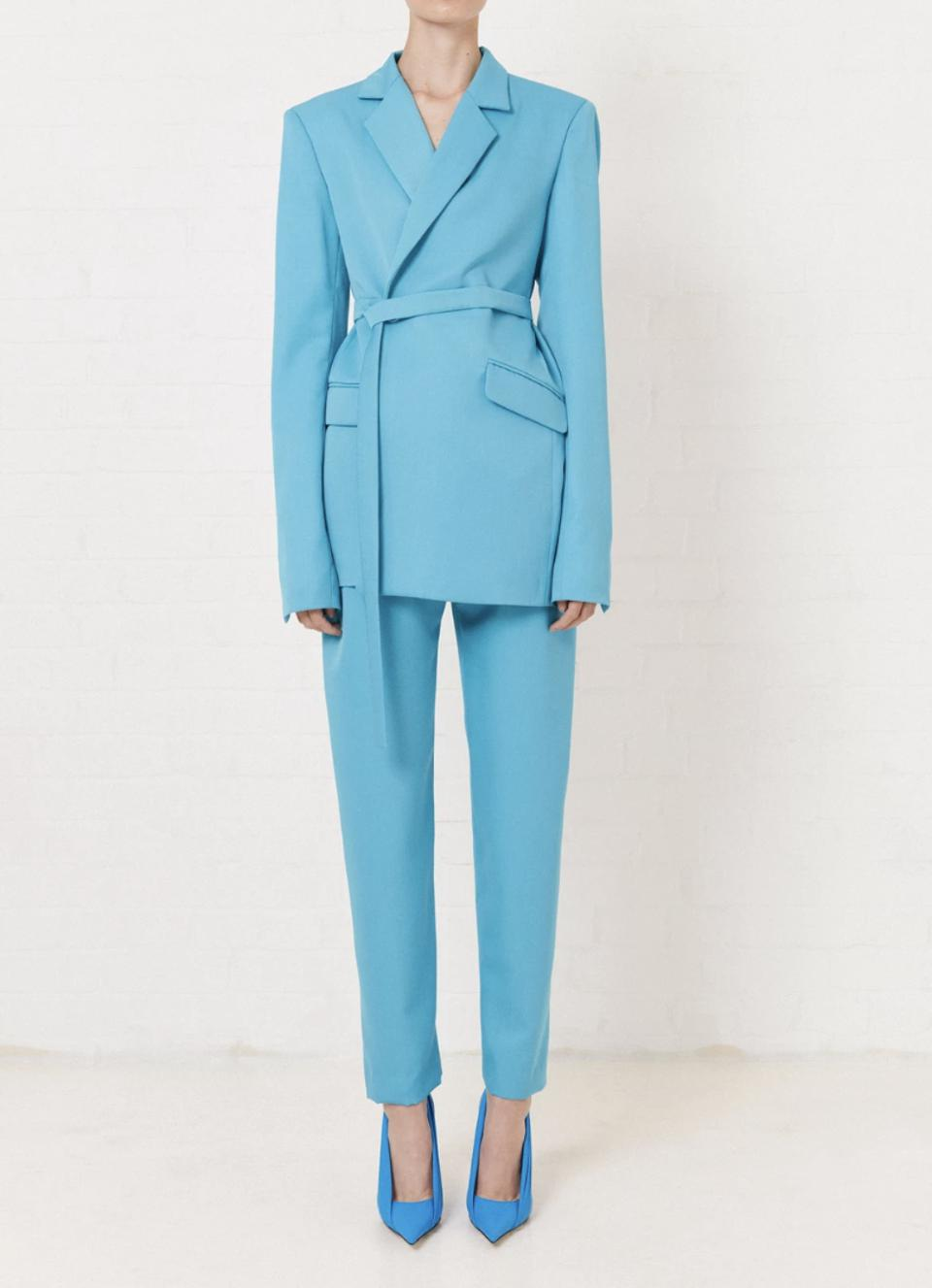 House of Holland Turquoise Tailored Suit