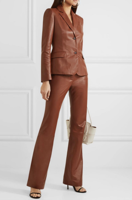 Altuzarra Egan leather blazer and Serge leather flared pants