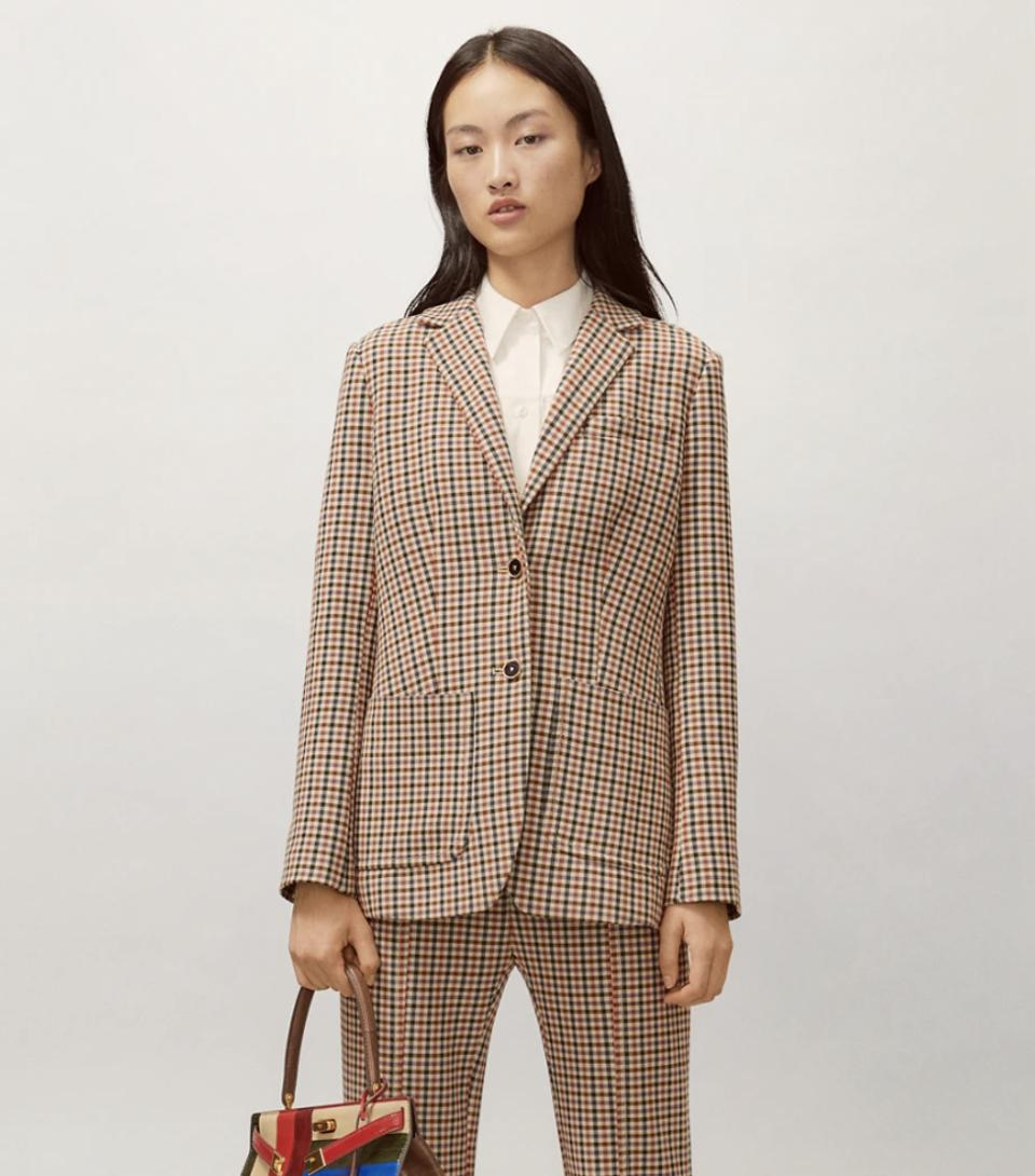 Tory Burch plaid blazer and pant