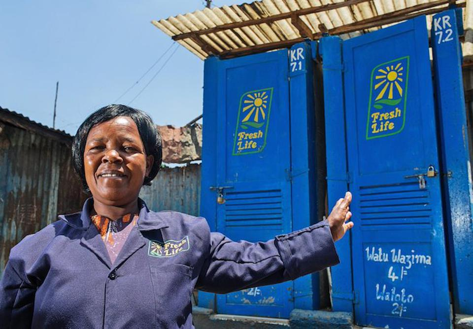 The Fresh Life Initiative has an innovative solution to the lack of safe sanitation in crowded urban areas. There are 2,600 Fresh Life toilets already installed in informal settlements in Nairobi serving 104,000 residents.