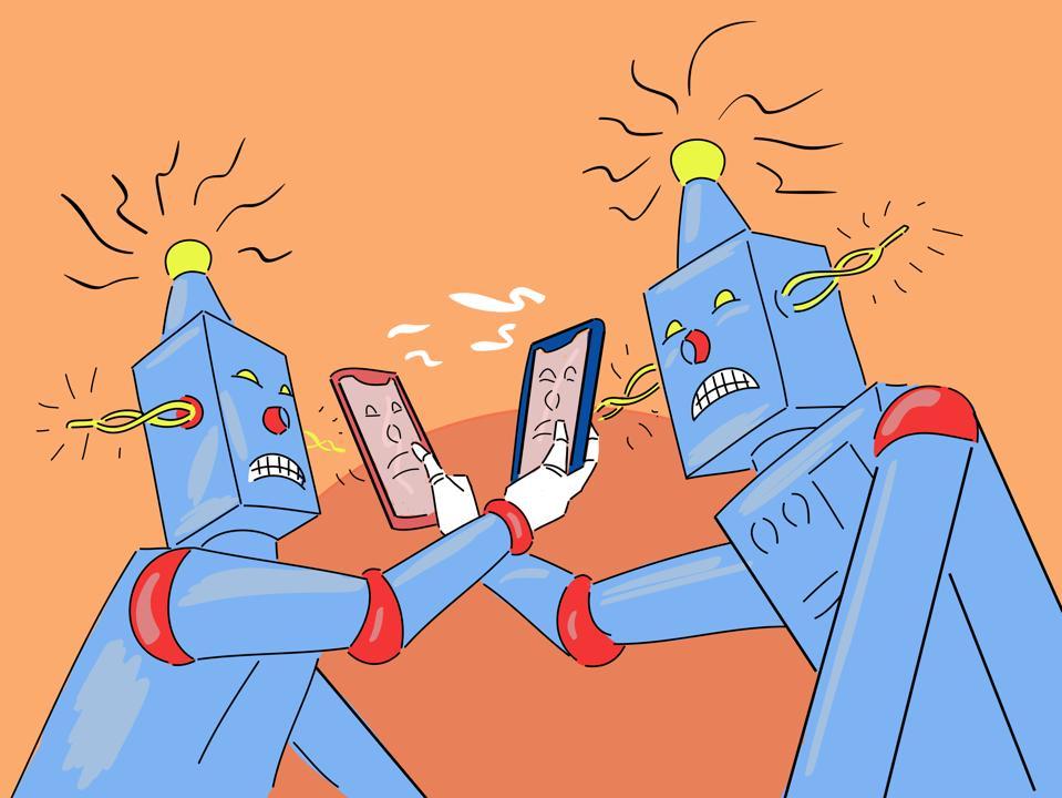 An AI versus another AI.