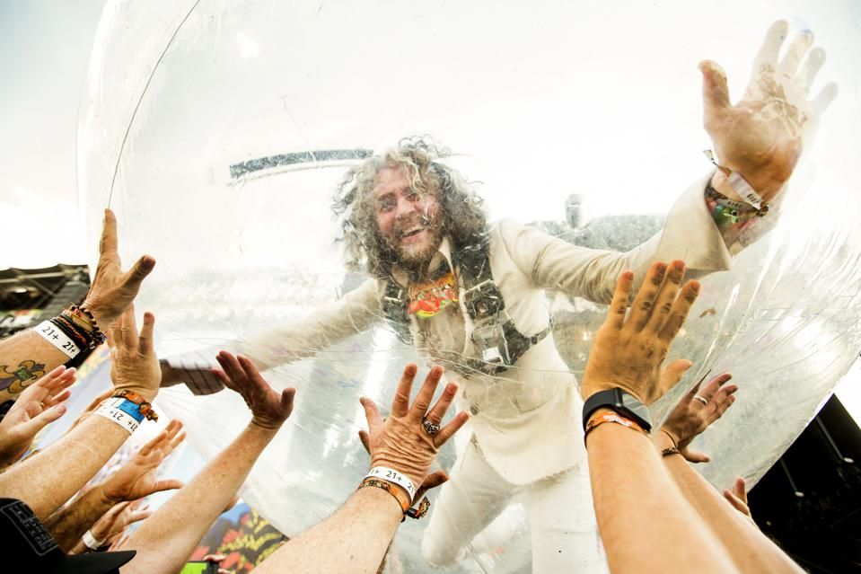 Wayne Coyne of Flaming Lips performs on day 1 of Bourbon and Beyond 2019. Friday, September 20, 2019 in Louisville, Kentucky